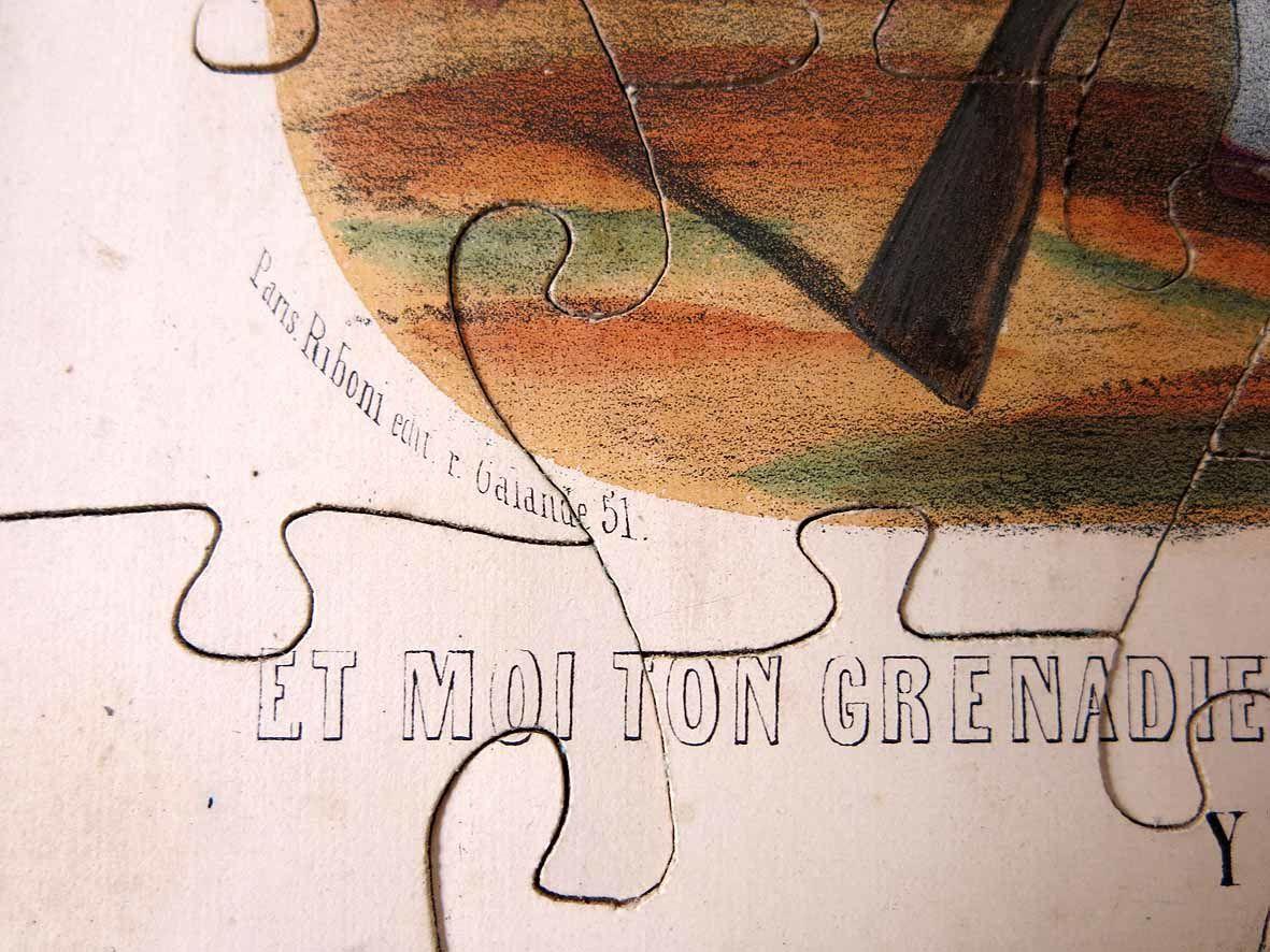 RESTAURATION D'UN PUZZLE DE LA 2ème MOITIE DU XIXe