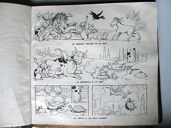 3 fables illustrées par page