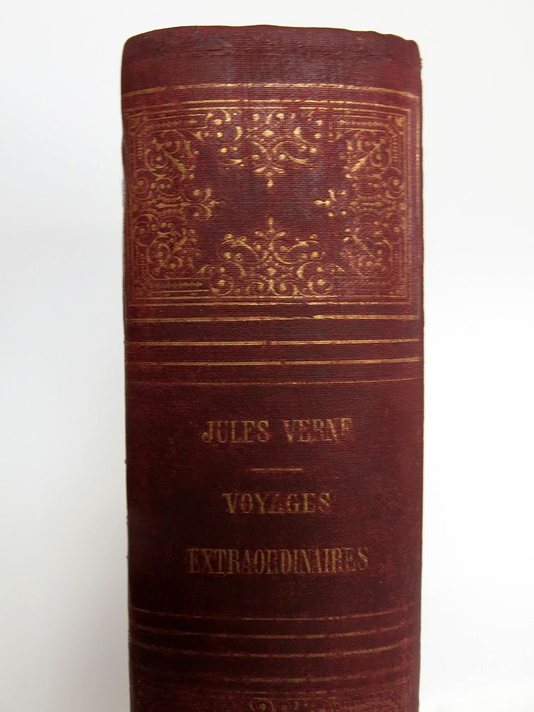 RESTAURATION D'UN JULES VERNE DE LA COLLECTION HETZEL MAIS UN JULES VERNE SANS DOUTE UNIQUE !