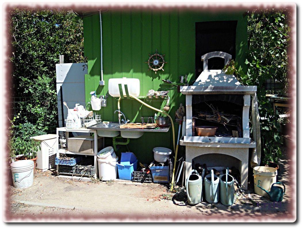 la cuisine d'été et le coin barbecue,