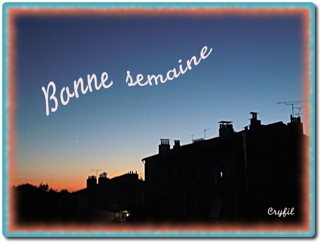 Coucher du soleil vu du balcon, on aperçoit Vénus.