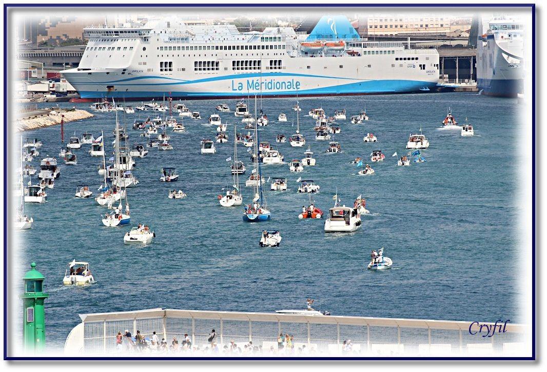 Fin de la parade maritime