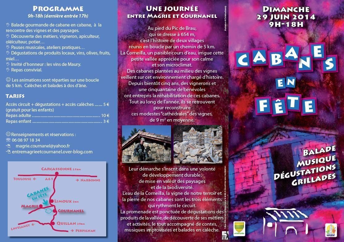 Programme Cabanes en Fête 29 JUIN 2014