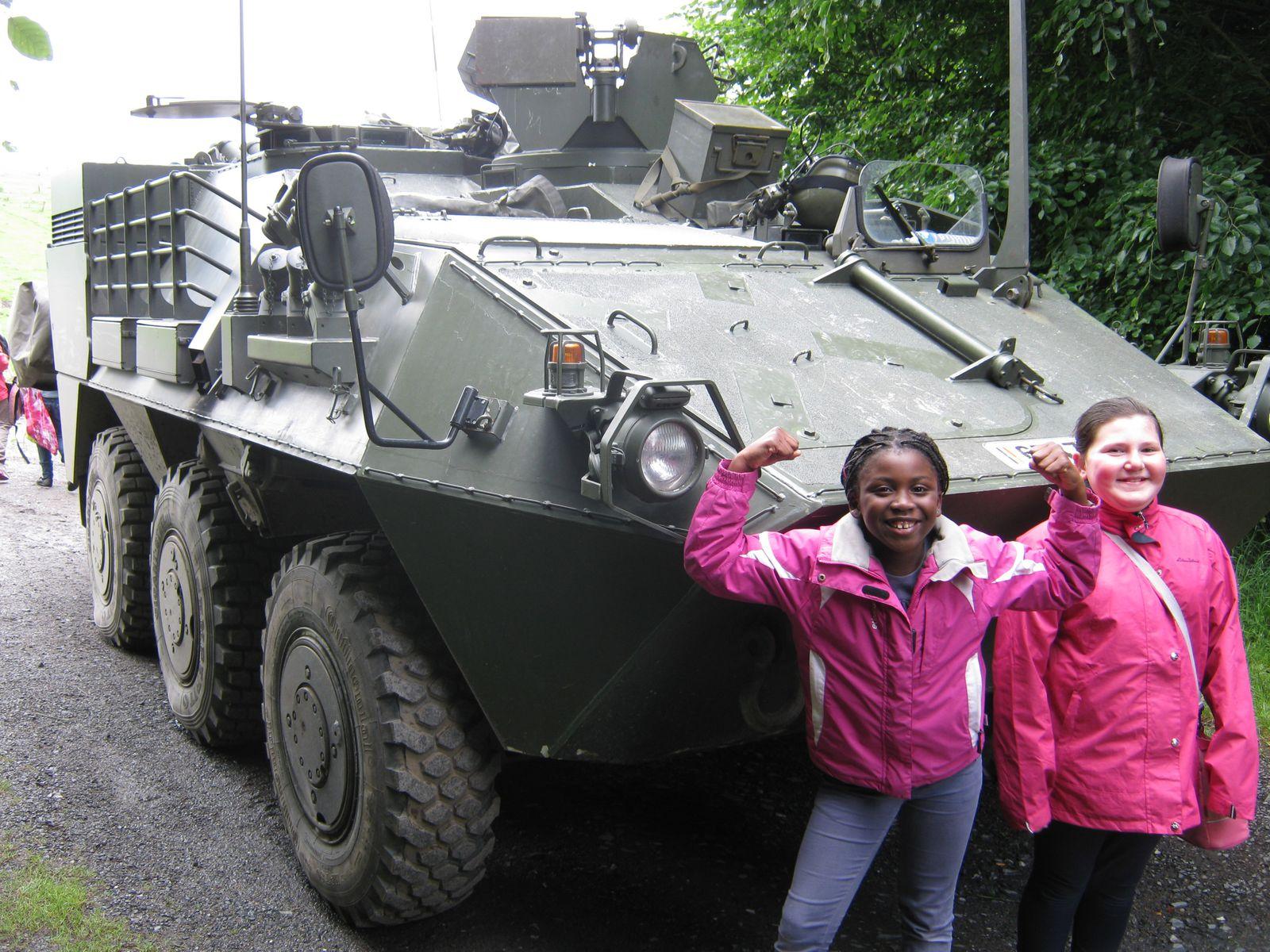 Nous avons également eu la chance d'observer un véhicule militaire