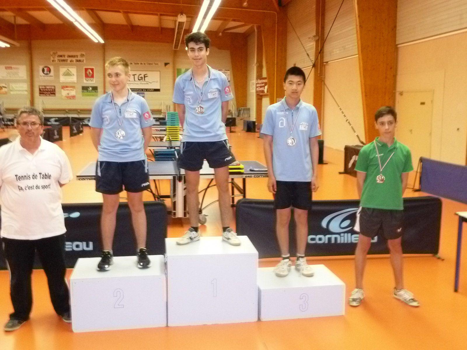 benjamins:Théau/Sacha&#x3B;minimes&#x3B;Samuel/Hugo&#x3B;cadets&#x3B;Damien/Nathan/Léon,une partie du club!