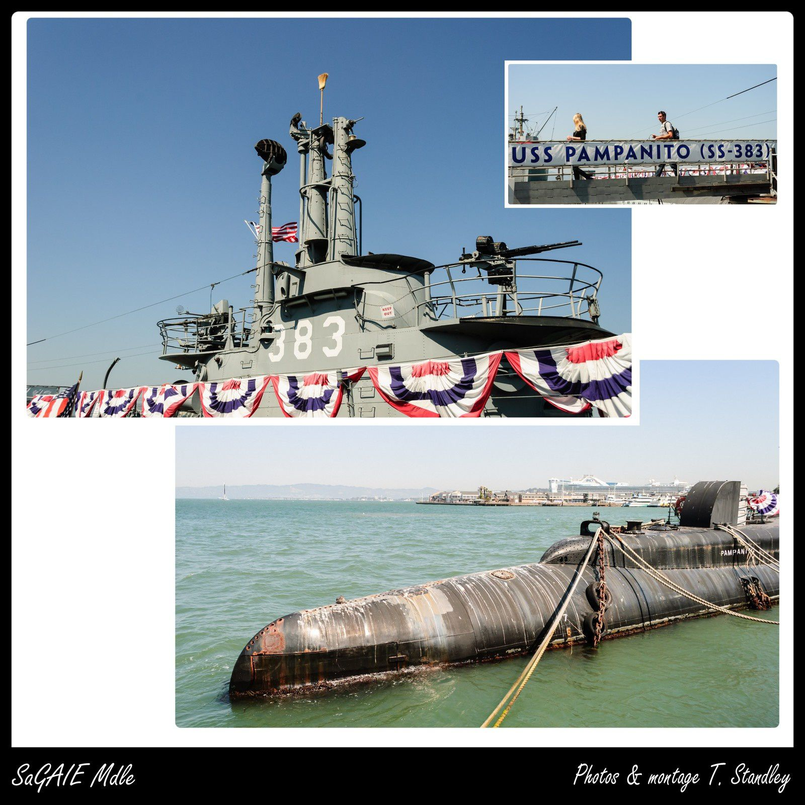 Sous-marin USS Pampanito &amp&#x3B; Liberty ship