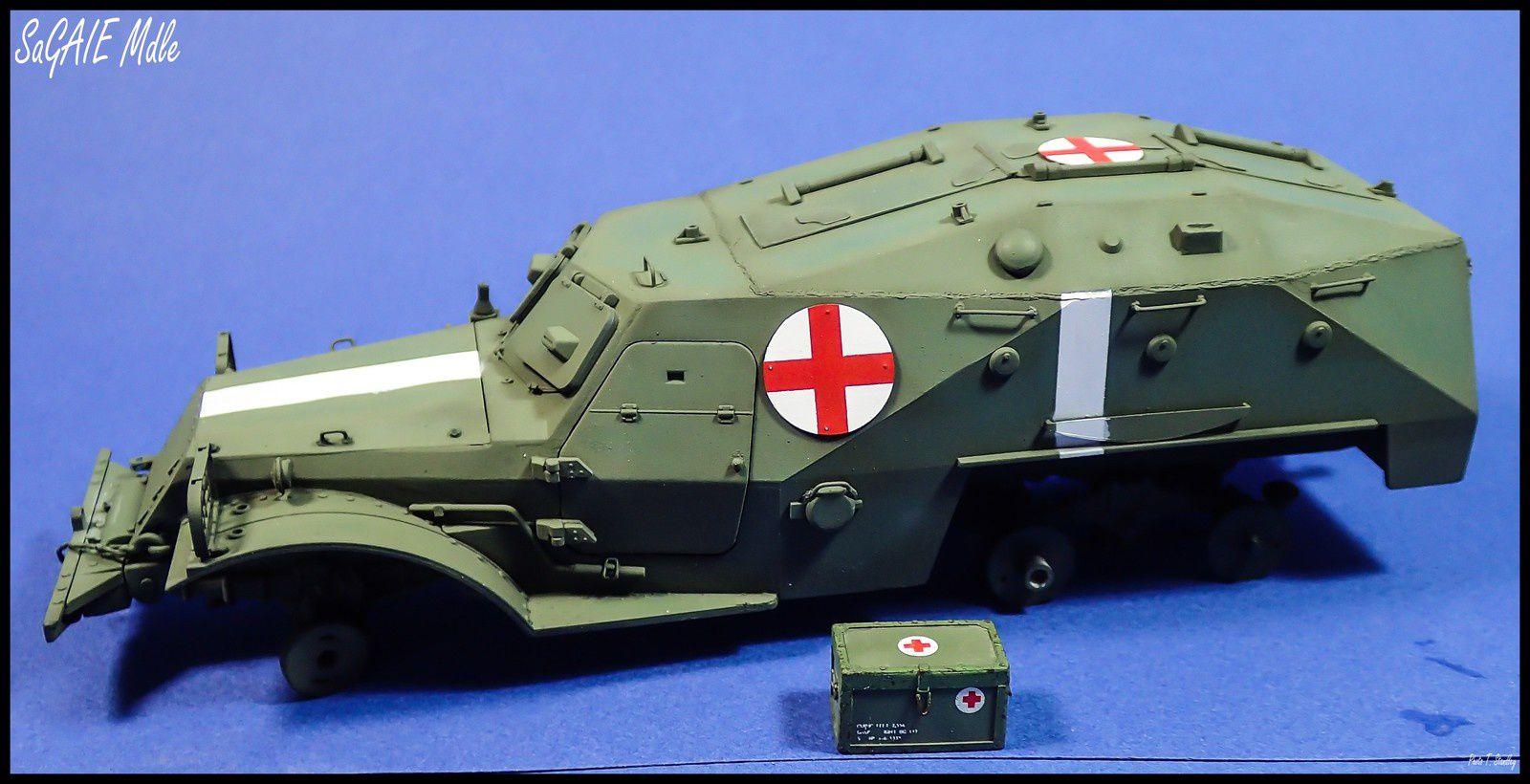 BTR 152 K Ambulance - épisode 4. ( début de la peinture )