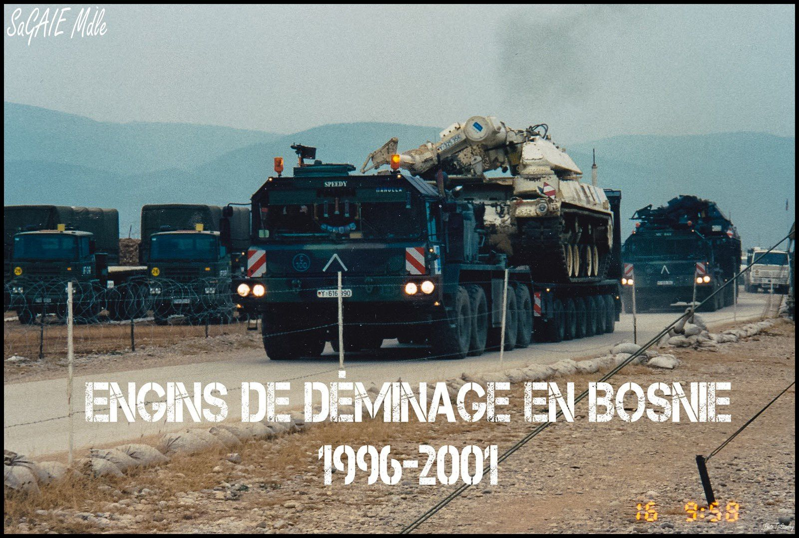 Engins de déminage, Bosnie 1996-2001