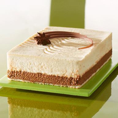 Entremet mousseux chocolat blanc