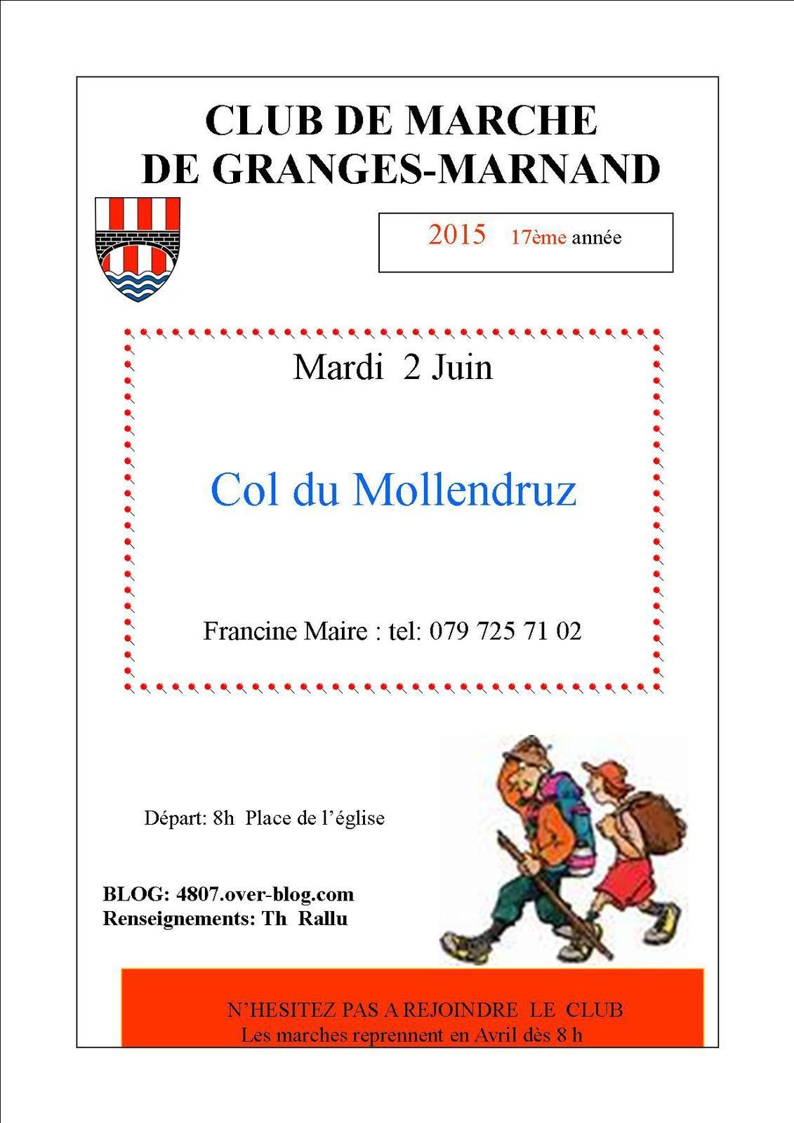 Mardi 2 juin : Col du Mollendruz