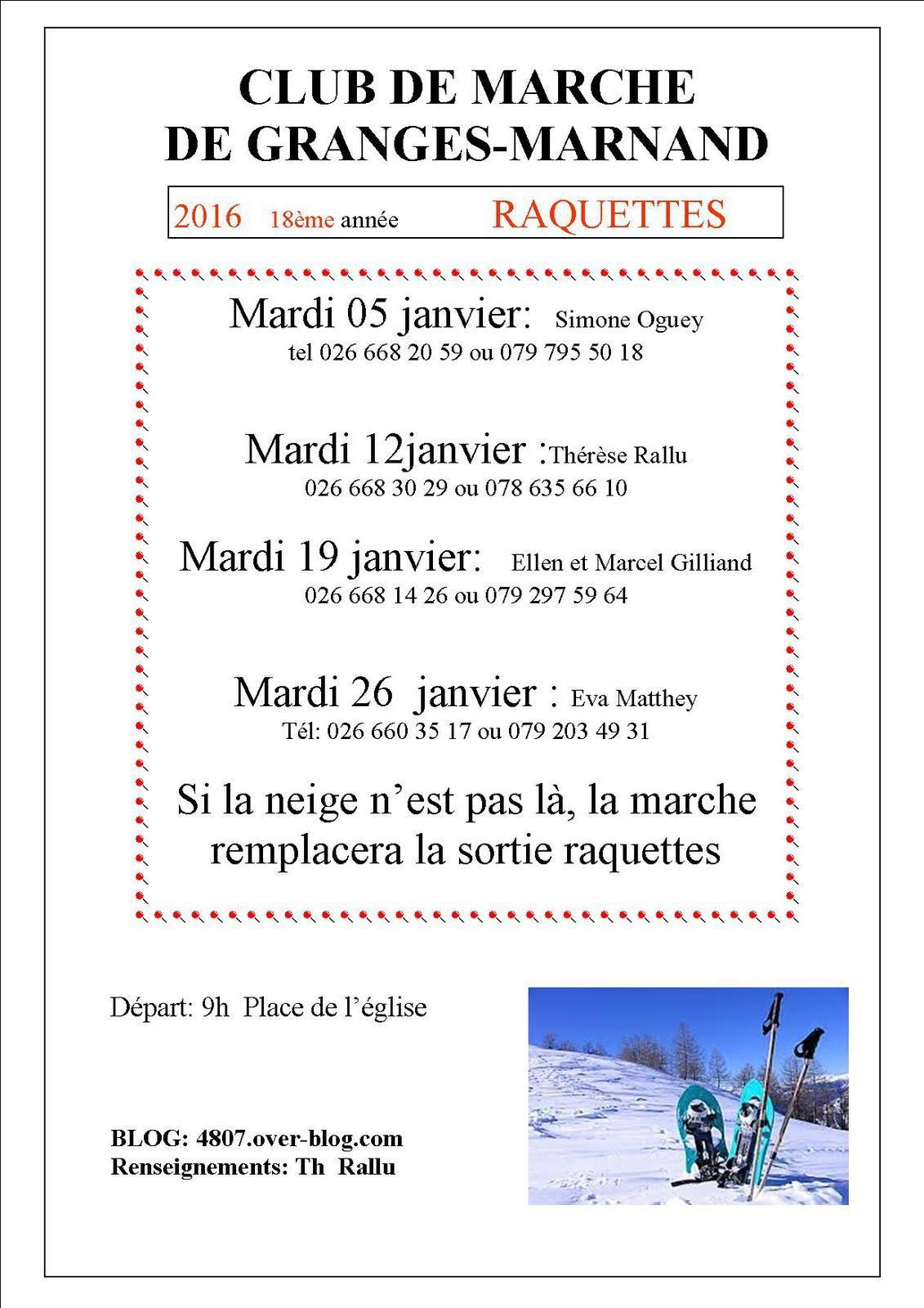 janvier 2016: raquettes