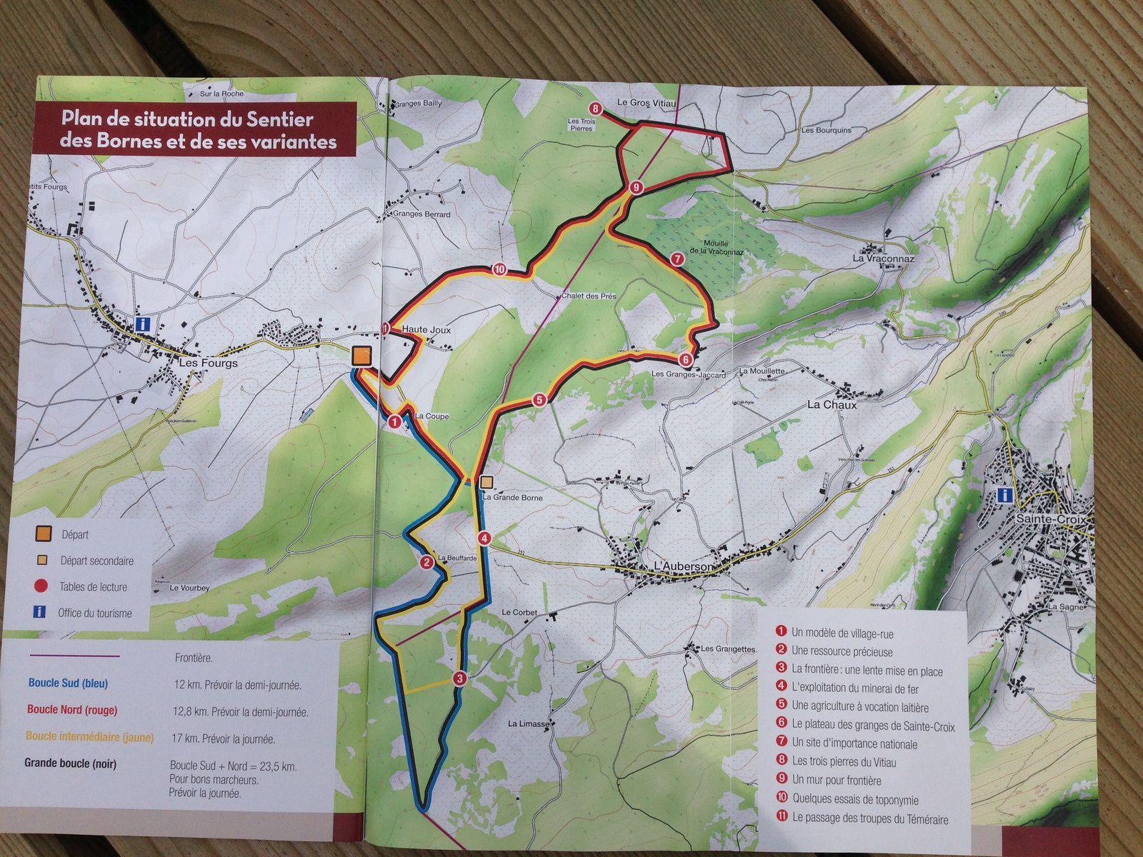 mardi 9 Août: Le sentier des Bornes