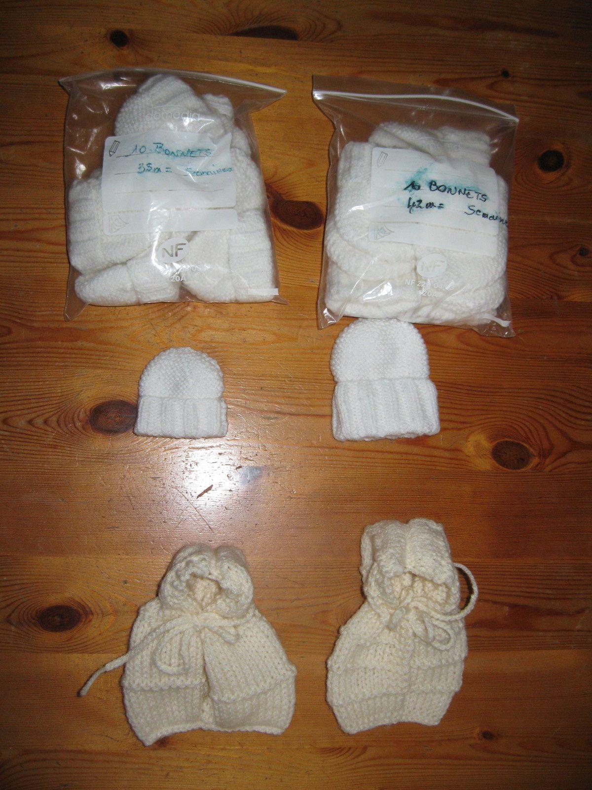 Pour les petits anges - des bonnets et des angelines ...