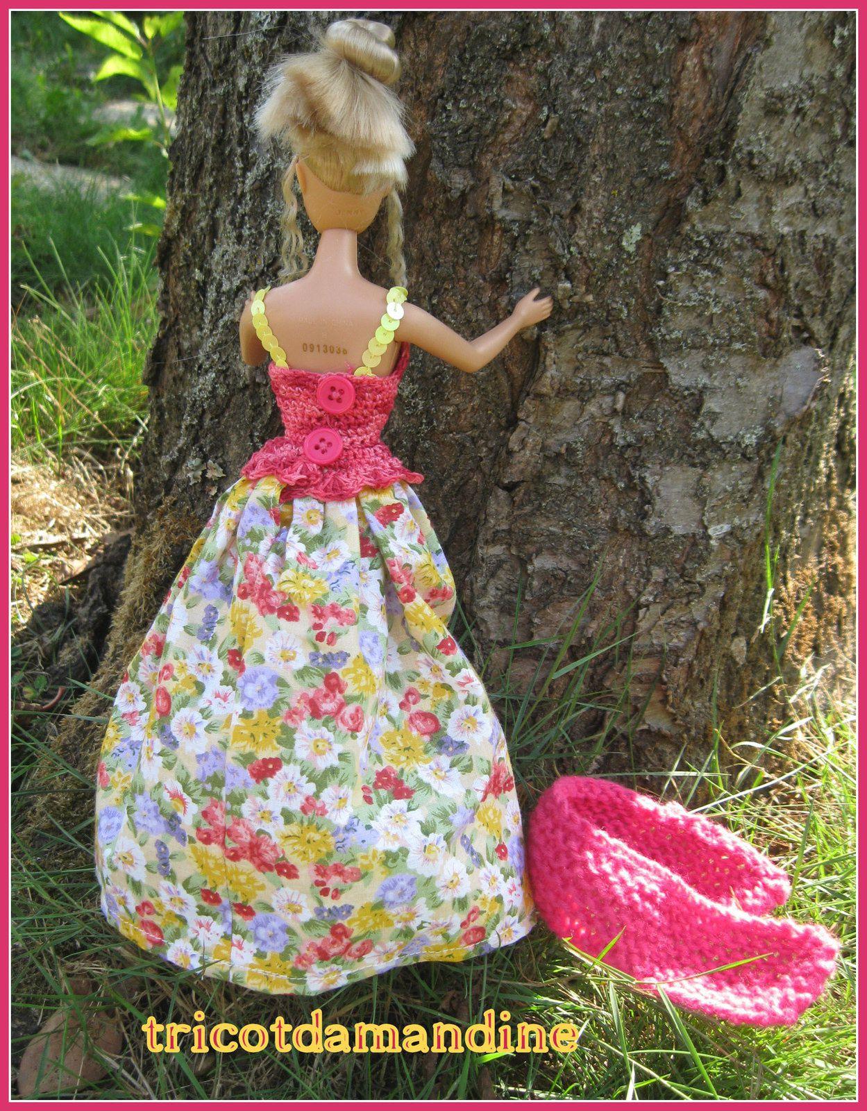 Barbie jolie fleur ....