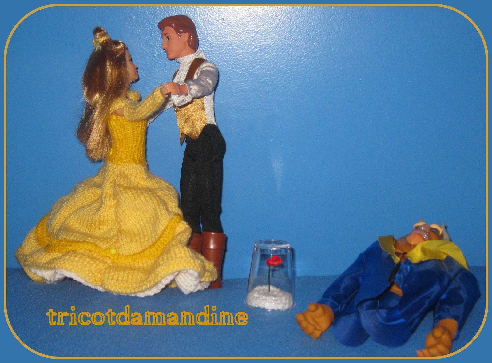 La Belle et la Bête ... pour mon marché de noël