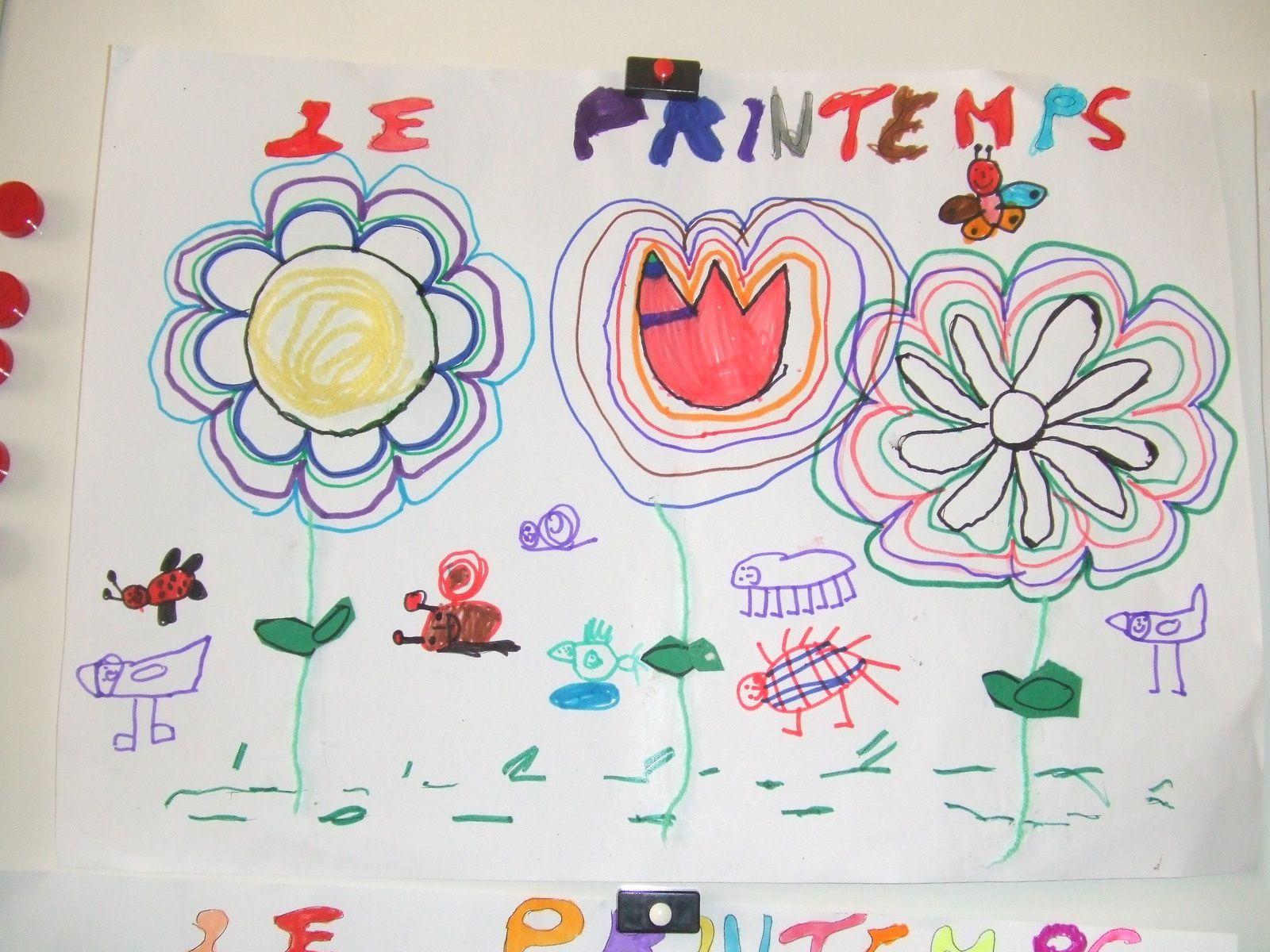 Nous f tons le printemps en ms gs le blog de l 39 ecole - Le printemps gs ...