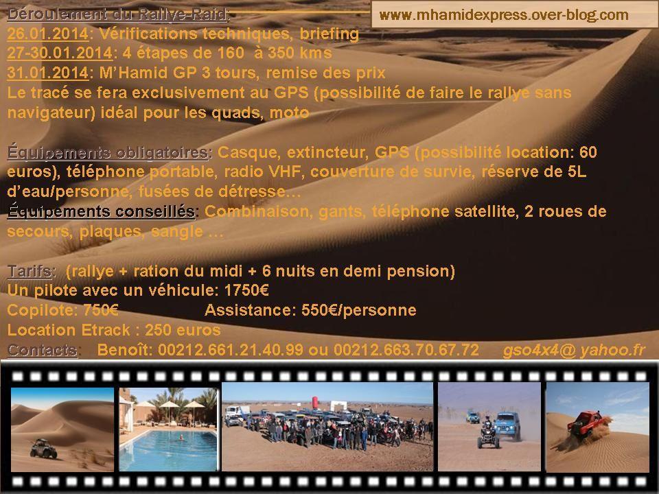 News du Morocco Sand Express et présentation du M'Hamid Express 2014