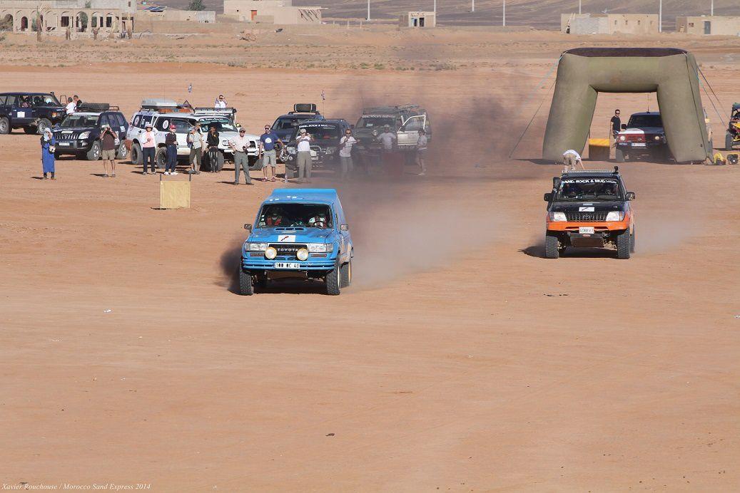 Etape 6 du Morocco Sand Express, un finish sableux