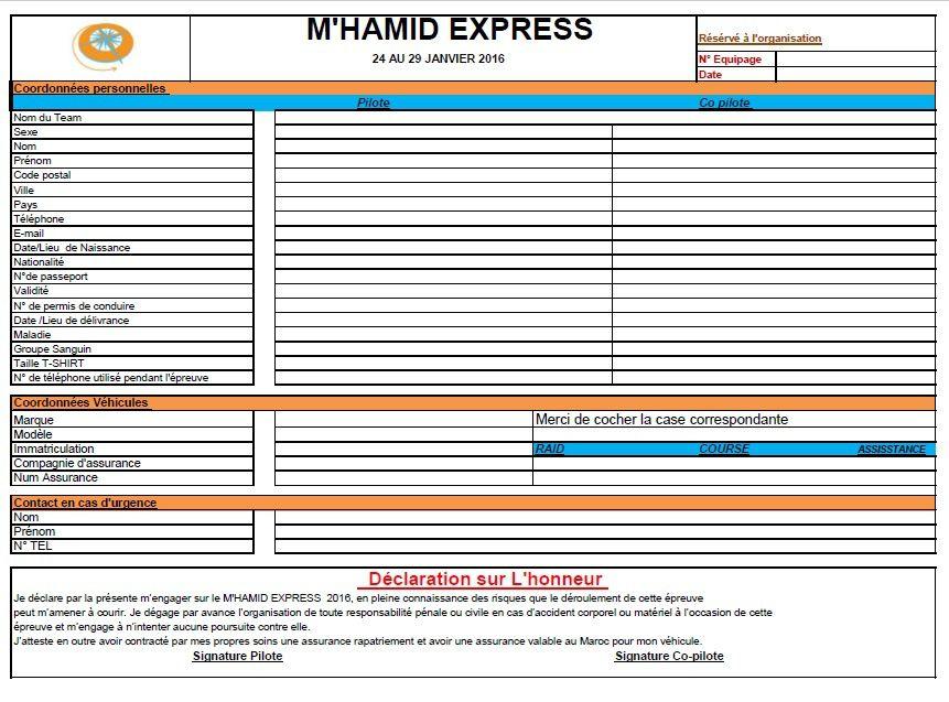 Il reste encore des véhicules en location pour le M'hamid Express 2016, rallye raid zagora maroc