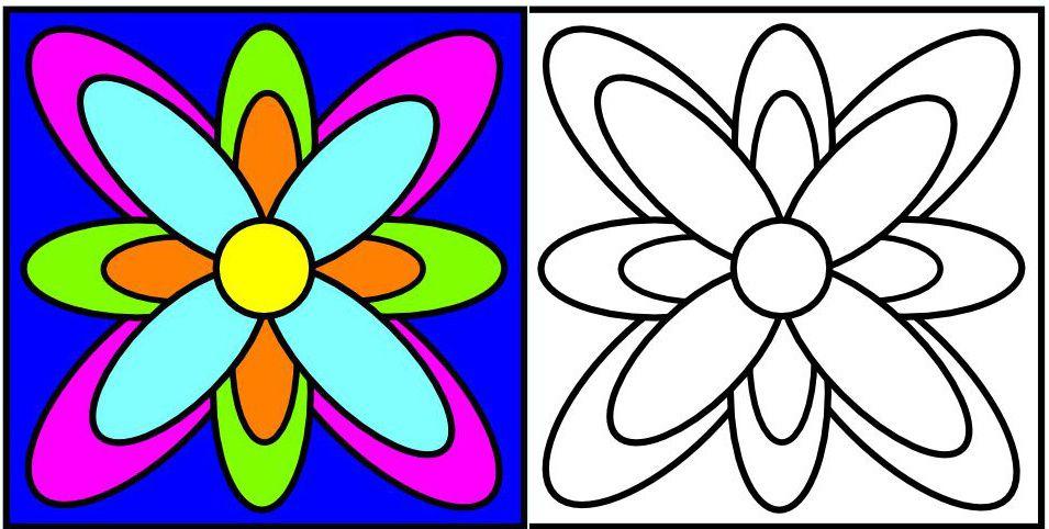 Coloriages de niveau 1 faciles le p 39 tit matisse - Coloriage fleurs maternelle ...