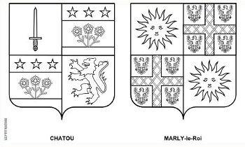 Blasons à colorier : Chatou / Marly-le-Roi