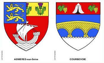 Blasons à colorier / les HAUTS-de-SEINE (92)
