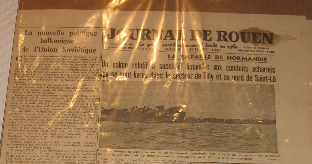 70e Anniversaire du D-Day à Yvetot - L'exposition est ouverte!