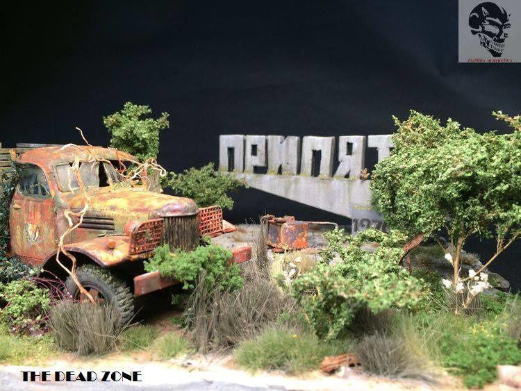 Le diorama en cours d'Arnaud