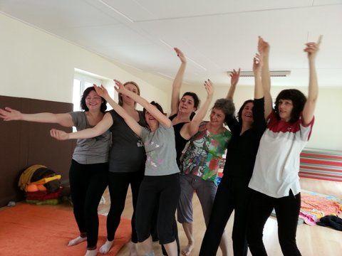 La joie est aussi au rendez-vous lors des ateliers de l'Association Tout Simplement !