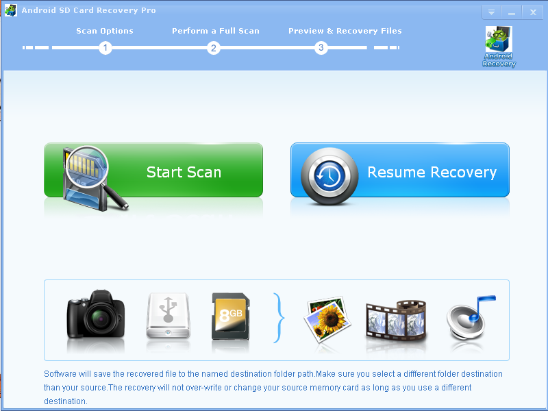 Perfect Recovery Pro for Android SD Card