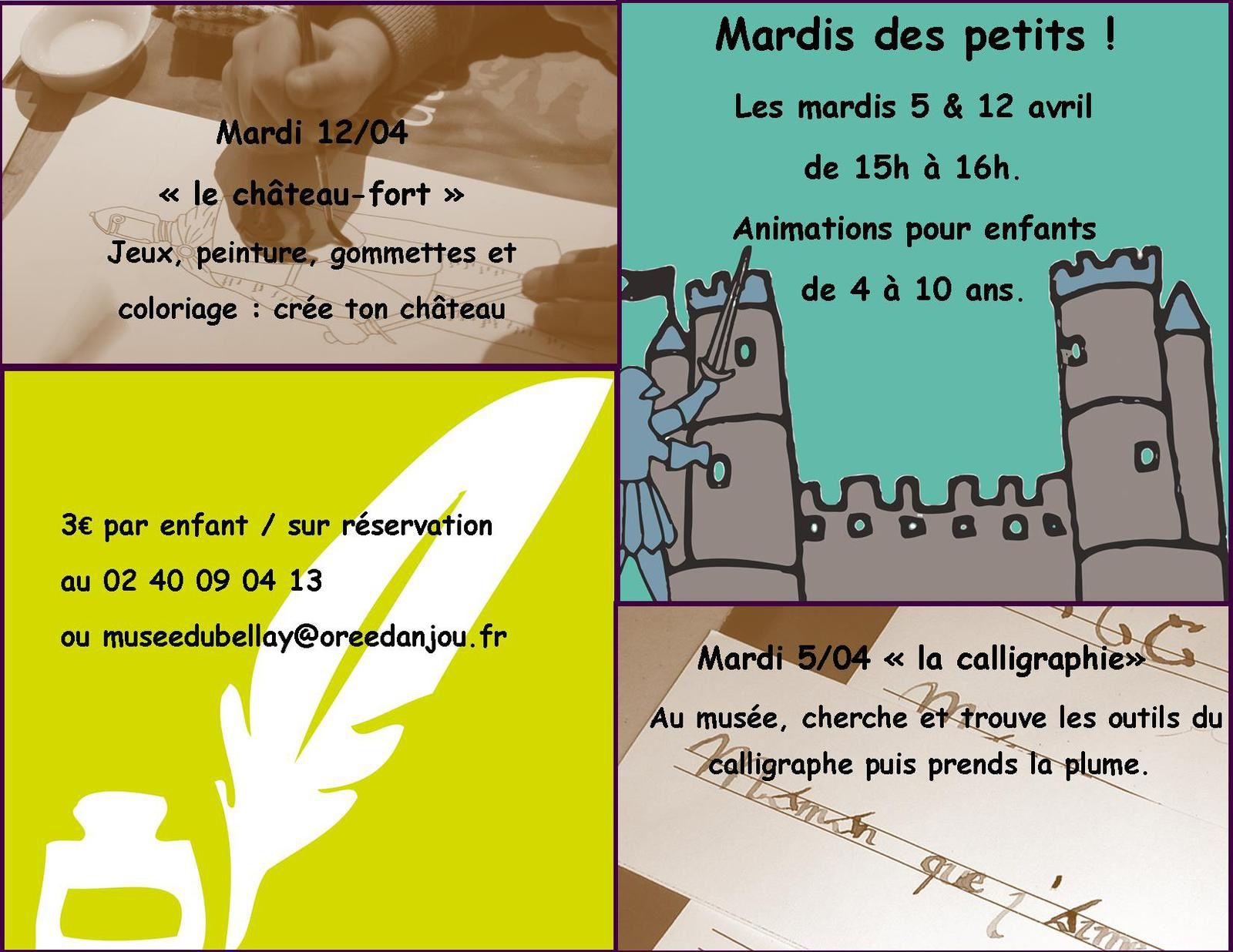 Animations enfants vacances d'avril