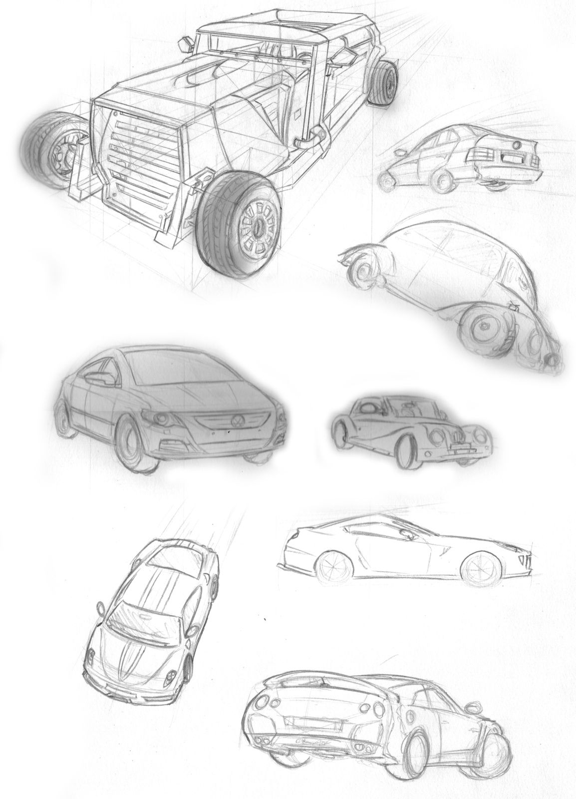 Cars Sketches - Feel Good