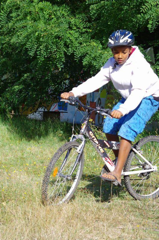 parcours vélo dans la clairière