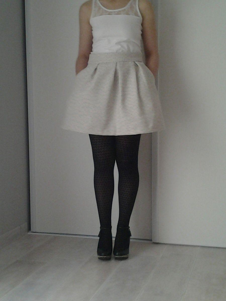 Jupe Rachel patron   magazine maison Victor janvier février  2016  tissu tricot jacquard mondial tissu