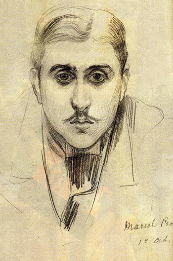 Marcel Proust , dessin de J-E Blanche( 1891)