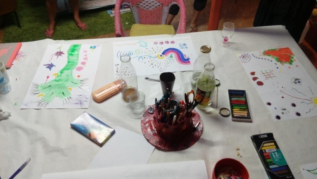 Ambiance des sessions de formation &quot&#x3B;Initiation à l'art-thérapie en tant que médiation thérapeutique et créative&quot&#x3B;
