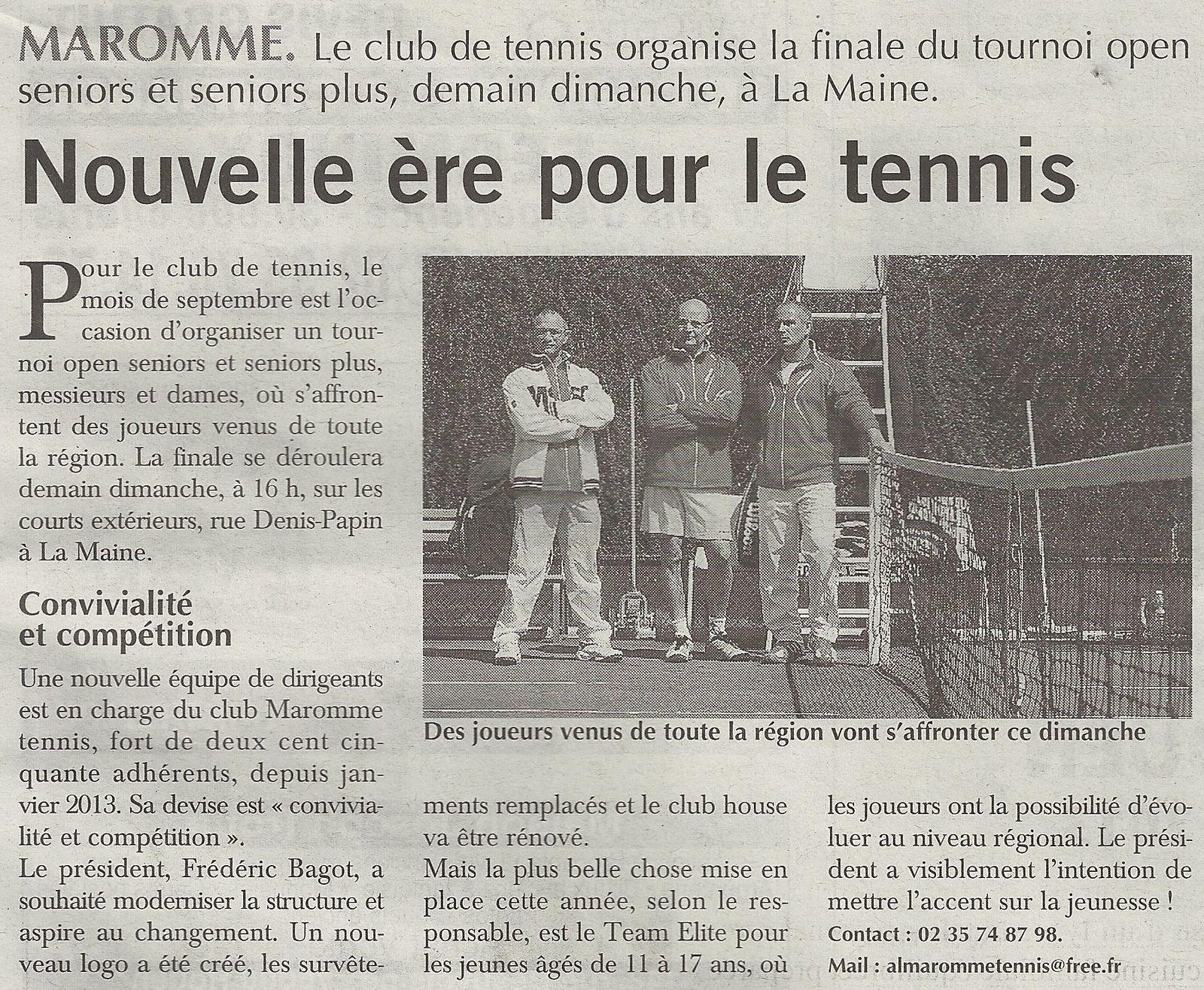Article paru dans le Paris-Normandie du 21/09