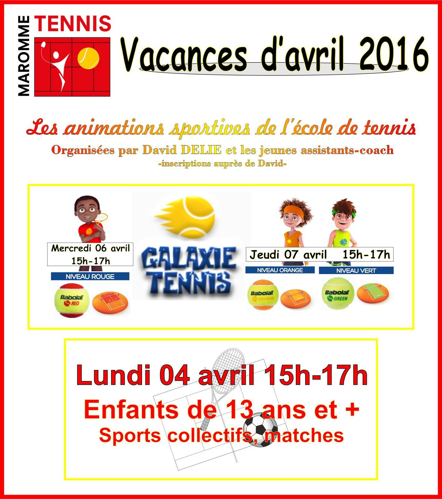 Animations jeunes avril 2016
