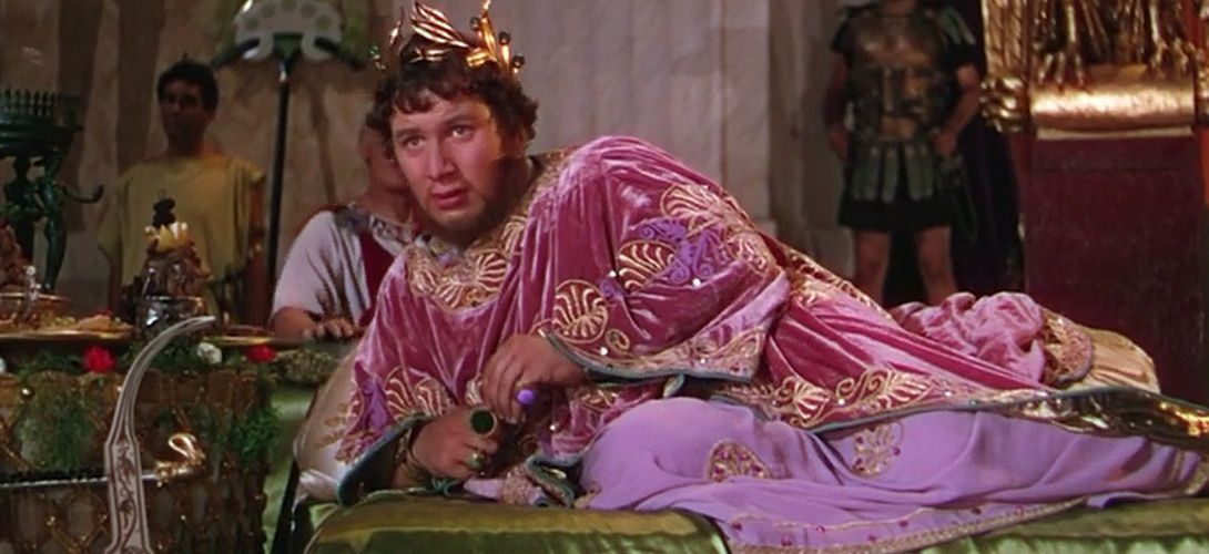 Peter Ustinov qui incarne Néron avec talent!