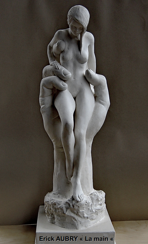 Sculpture &quot&#x3B; La main &quot&#x3B;