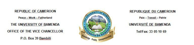 Admissions à l'Université de Bamenda