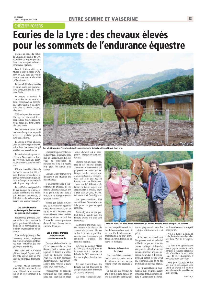 La Tribune Républicaine 12/09/2013