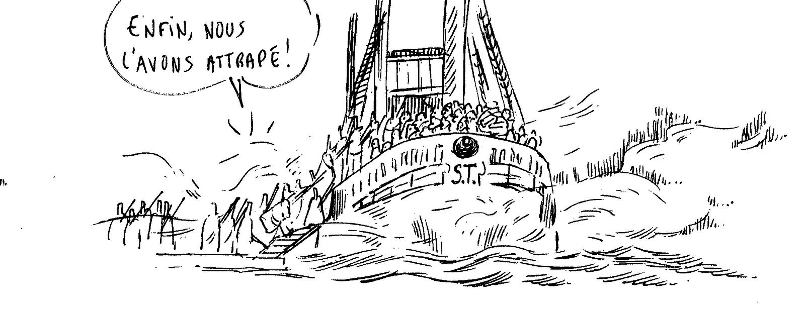 Sans Terre- croquis bateau