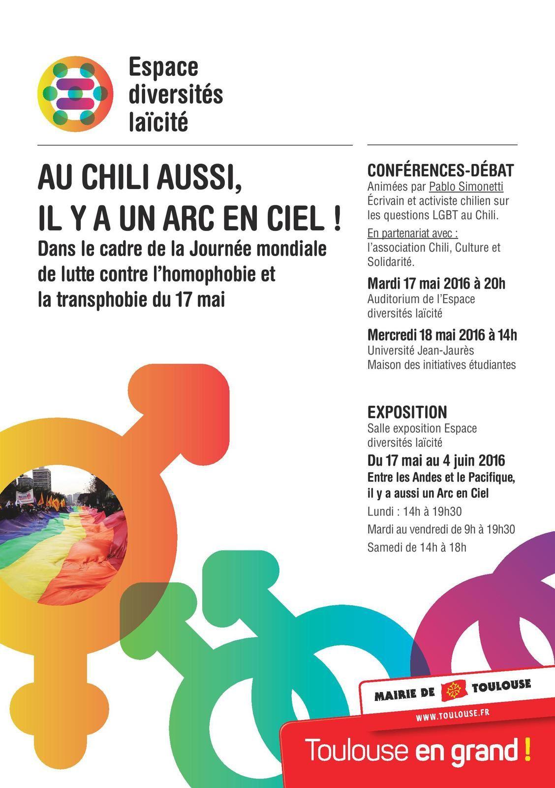 17 au 19 mai 2016: L'écrivain chilien Pablo Simonetti en conférence exceptionnelle  sur Toulouse...