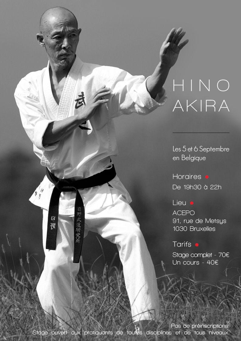 Premier rendez-vous cette saison avec Maître Akira Hino.