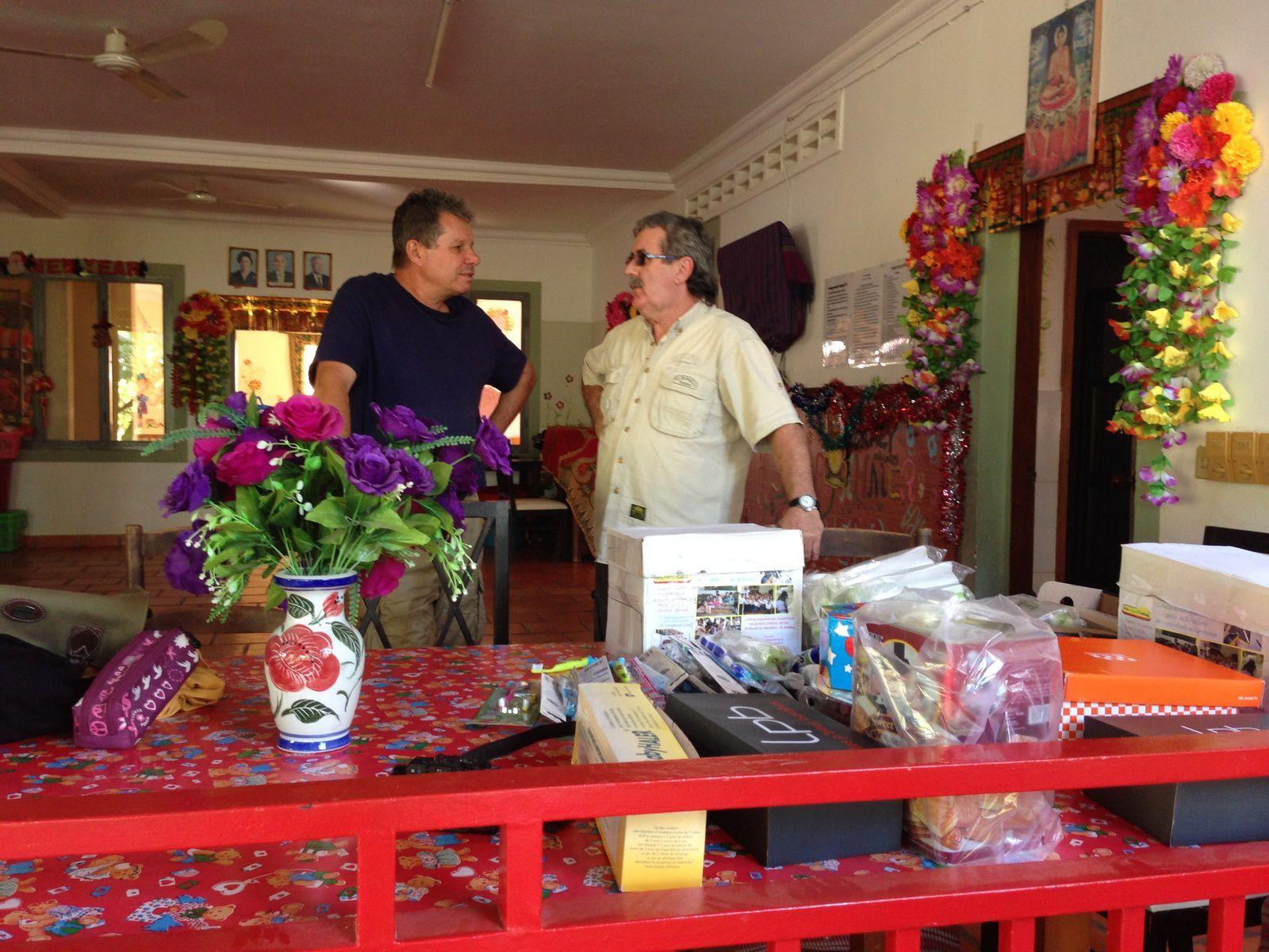 Gilles et Christian, en pleine discussion