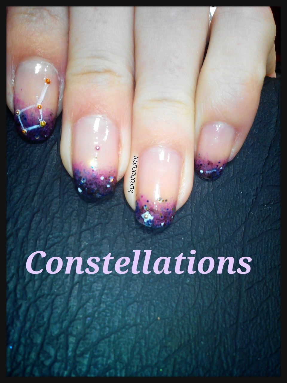 Easy nail art et constellations