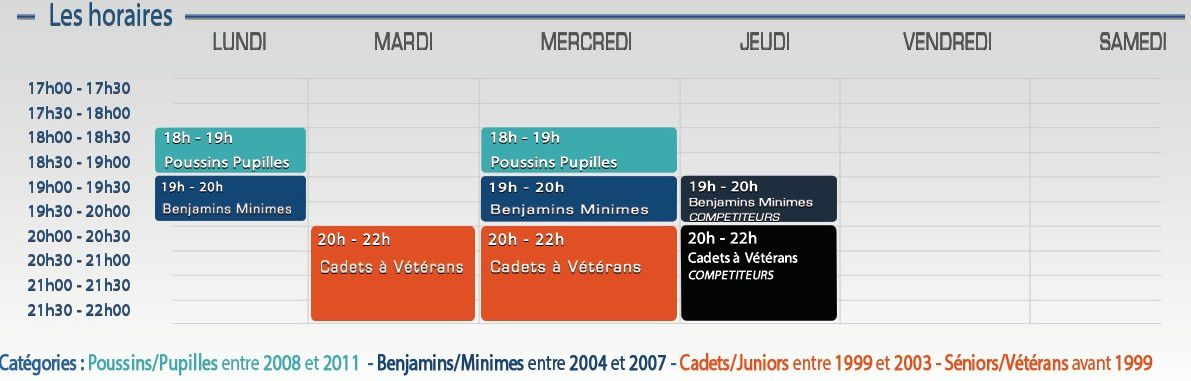 horaire 2015-2016
