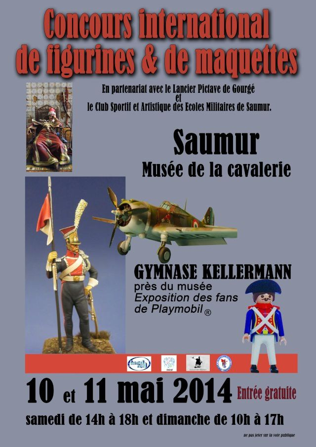 Concours International de Figurines et de Maquettes Saumur 2014.