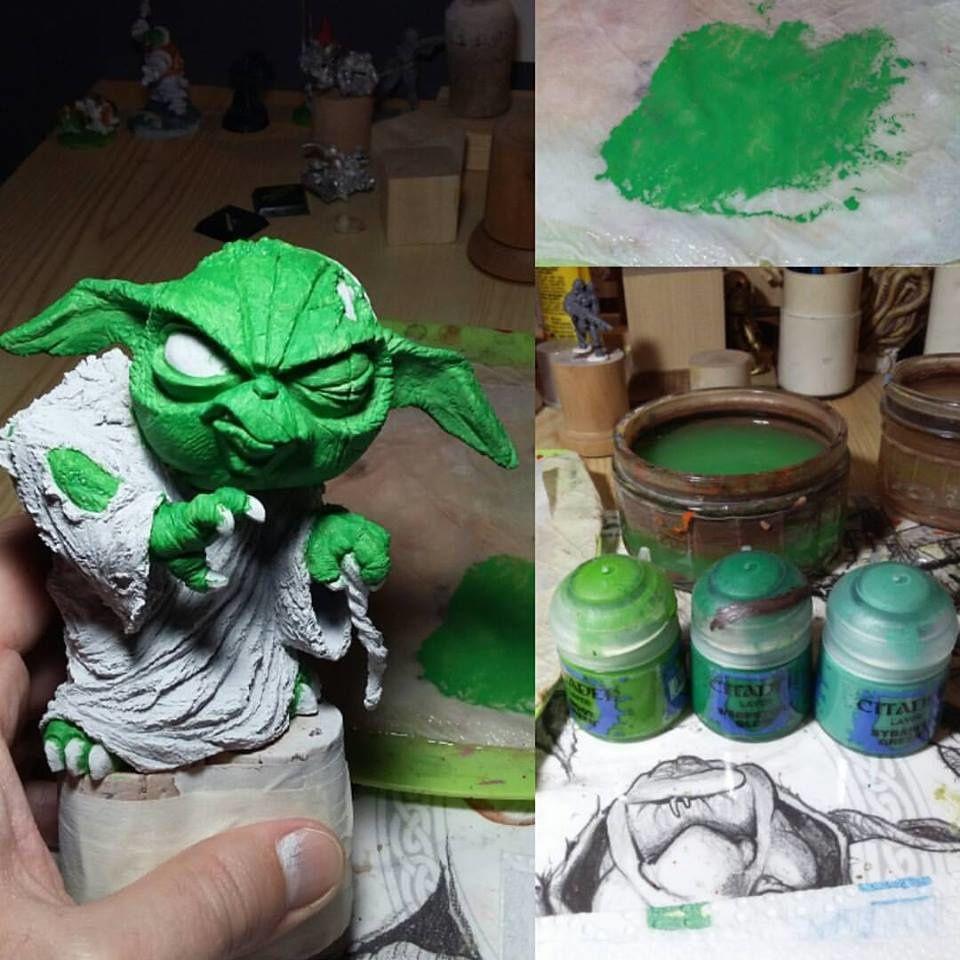 J'ai mélangé les  couleurs à quantité identique pour avoir un vert un peu original.
